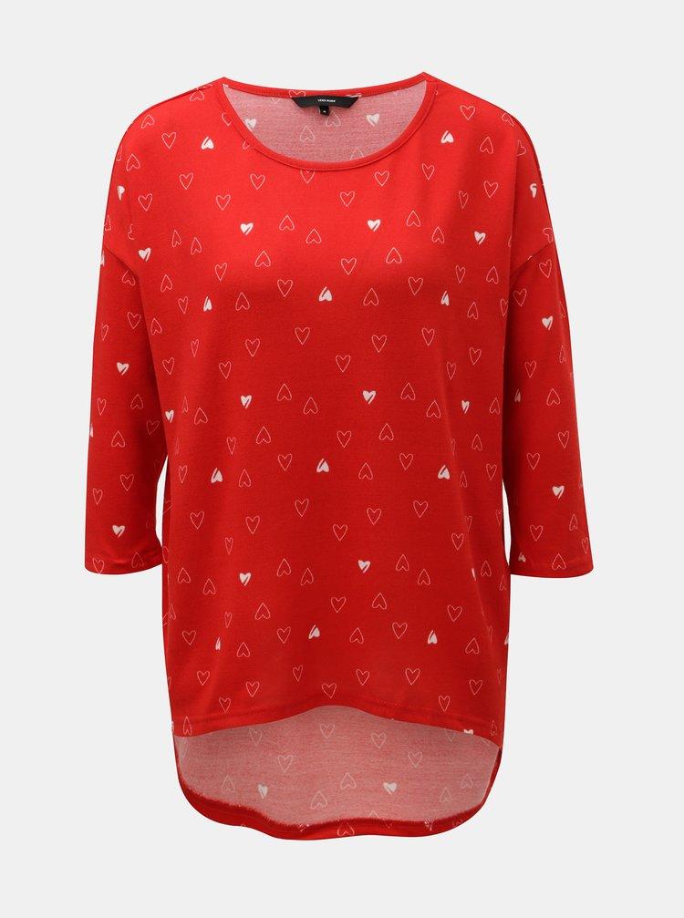 Červený vzorovaný lehký svetr VERO MODA Snowy
