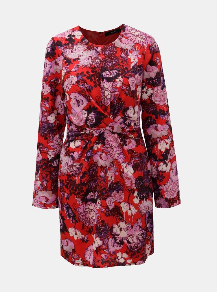 Červené kvetované šaty VERO MODA Marlene