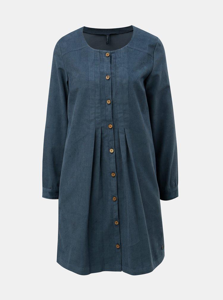 Modré menčestrové šaty Tranquillo Pinga