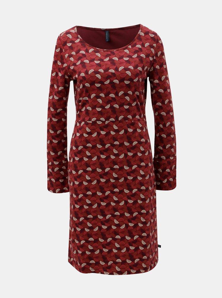 Červené vzorované šaty s rozparkom na rukávoch Tranquillo Hemera