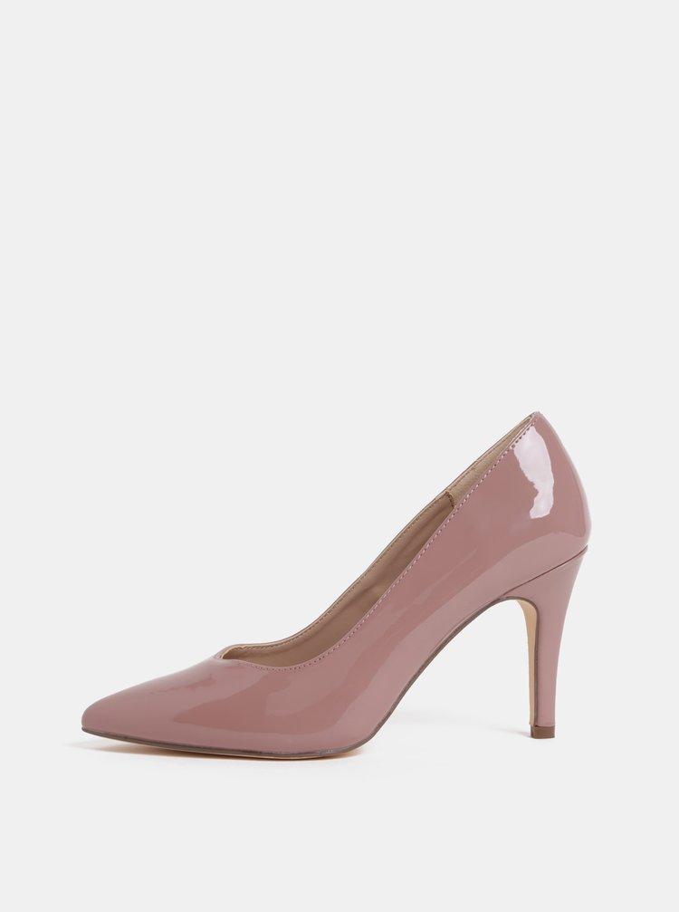 Pantofi roz prafuit luciosi cu toc inalt Dorothy Perkins