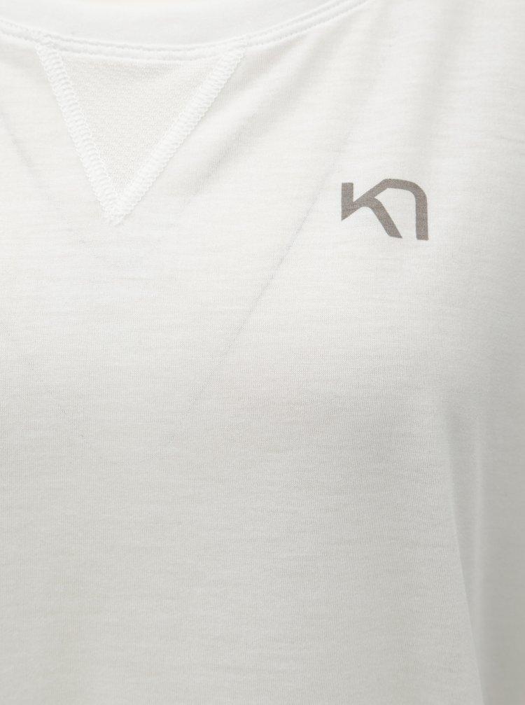 Biele voľné funkčné tričko s krátkym rukávom Kari Traa Julie 15be48e23ec