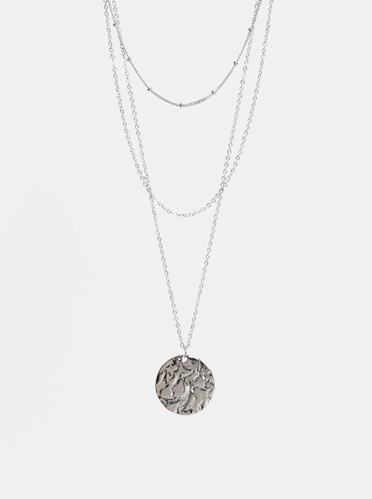 Náhrdelník ve stříbrné barvě Pieces Felia