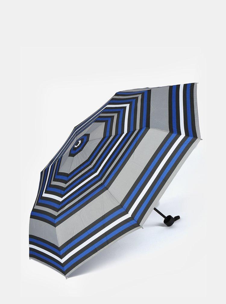 Umbrela pliabila cu dungi albastru & gri -  s.Oliver