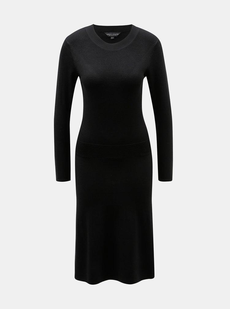 6abb14081bd0 Čierne svetrové šaty Dorothy Perkins