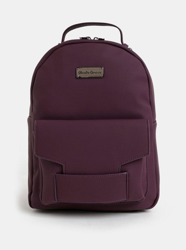 Fialový batoh s přední kapsou Claudia Canova Majesty