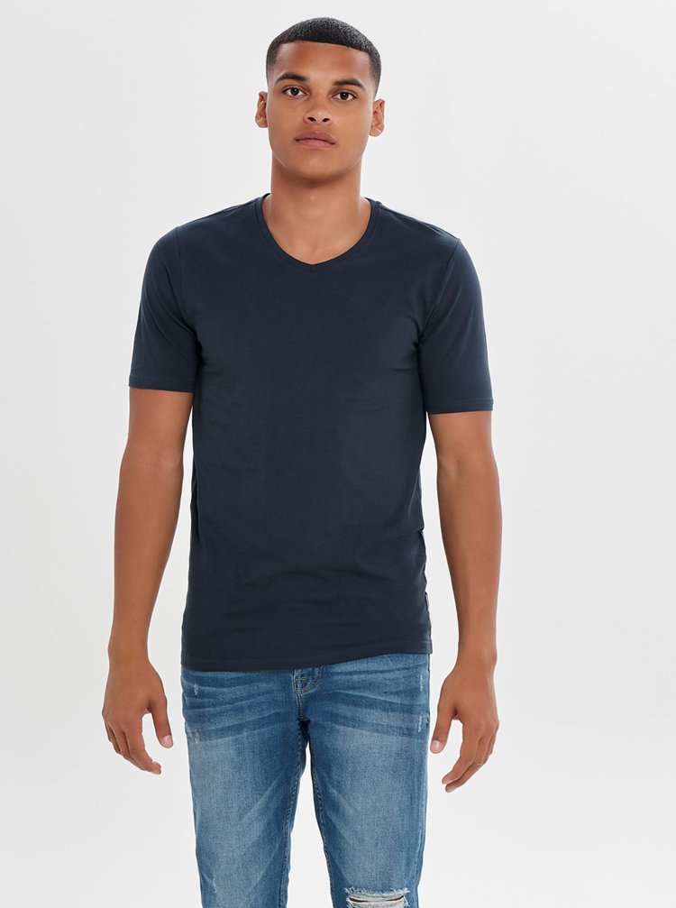 Tricou basic bleumarin - ONLY & SONS Basic