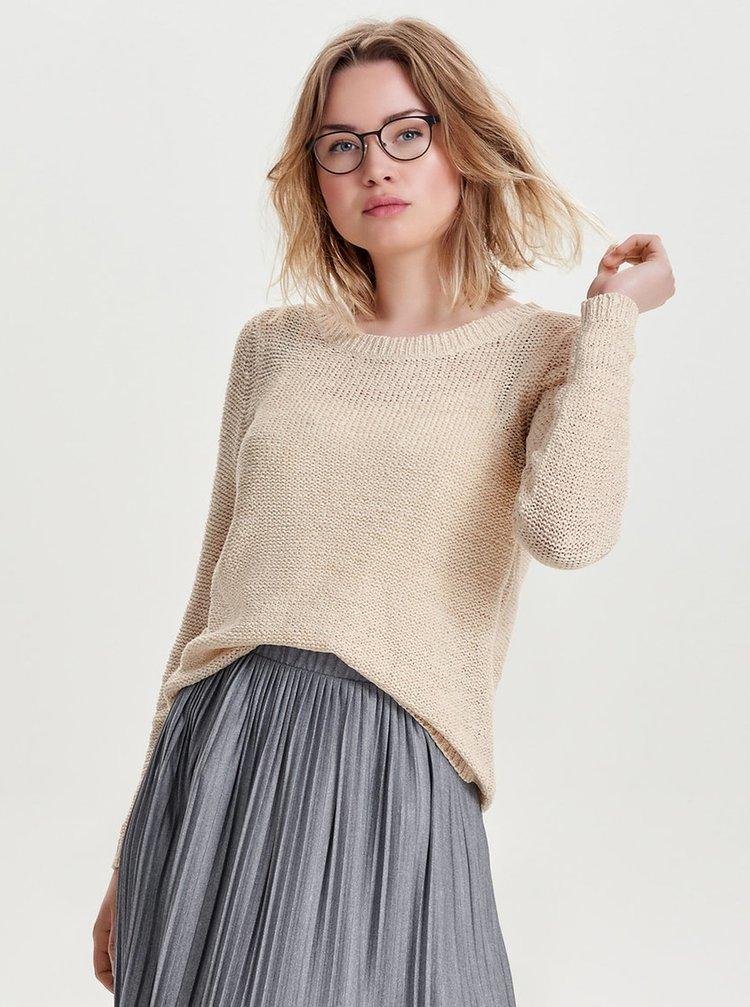 Krémový lehký svetr ONLY Geena