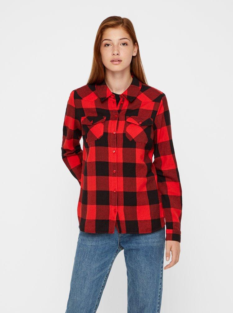 Černo-červená kostkovaná košile Noisy May