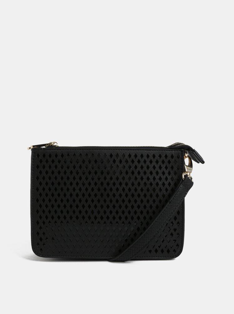 Černá vzorovaná crossbody kabelka Bessie London