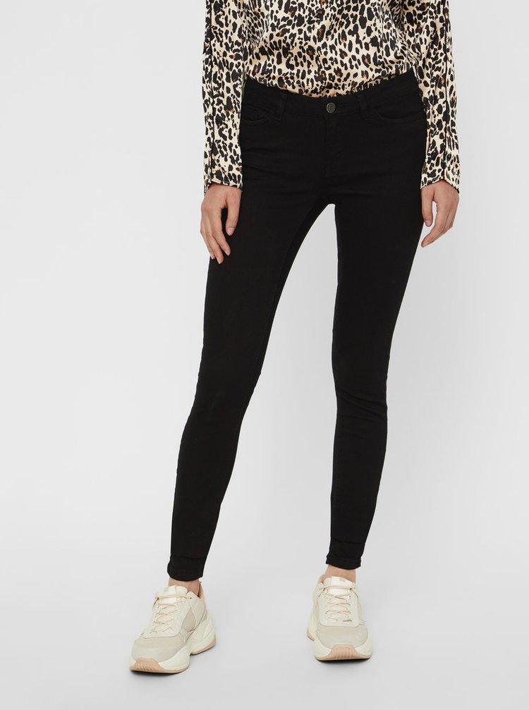 Černé skinny džíny s nízkým pasem Noisy May Extra