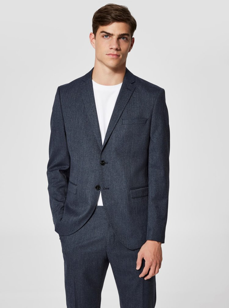 Sacou formal albastru inchis Selected Homme