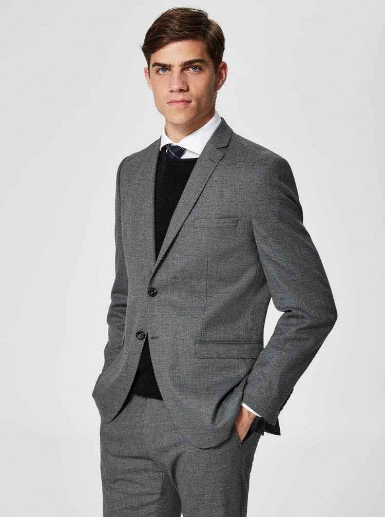 Sacou formal gri Selected Homme