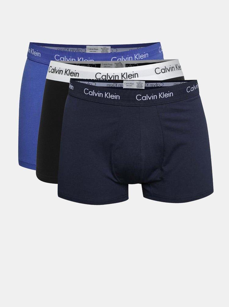Sada tří boxerek v modré barvě Calvin Klein Underwear