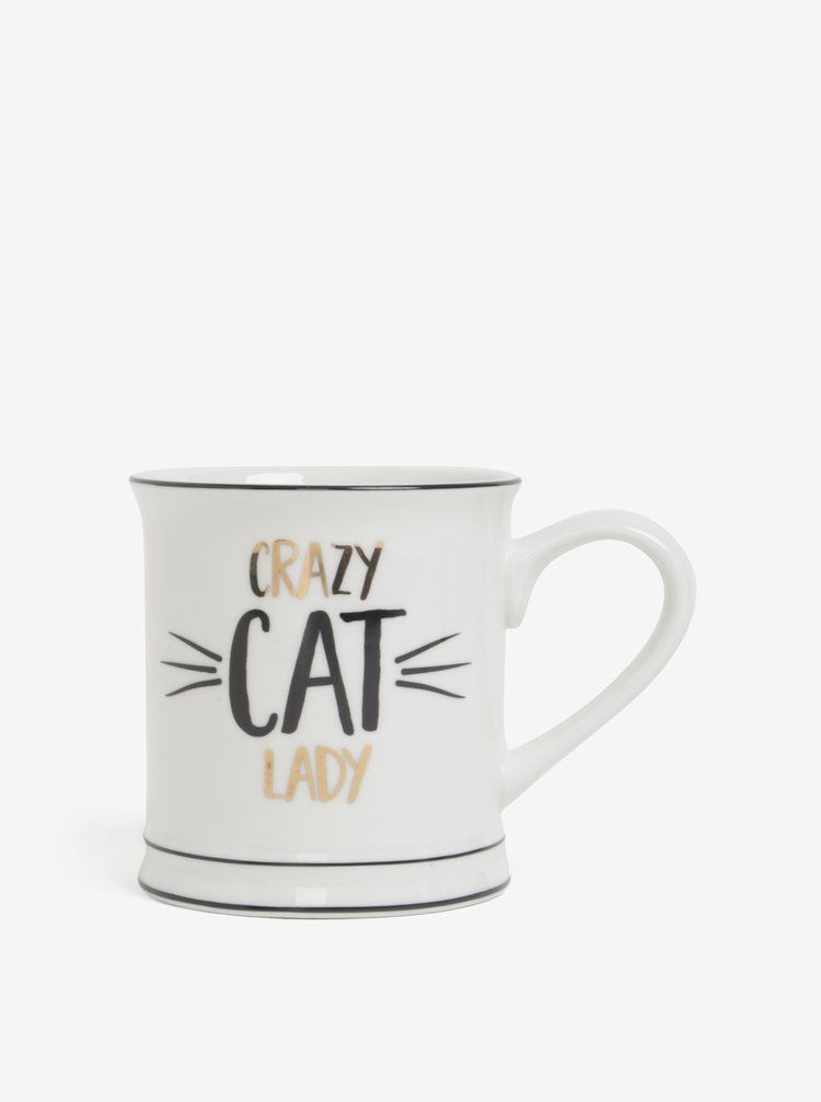 Cana cu mesaj amuzant Crazy Cat Lady - Sass & Belle