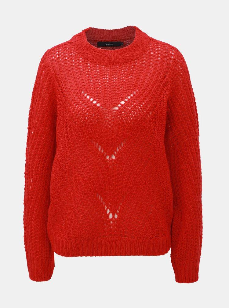 Červený sveter VERO MODA Wishi