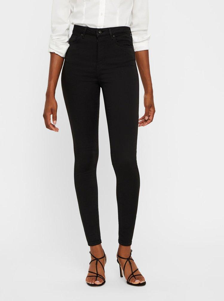 Černé skinny džíny s vysokým pasem VERO MODA Sophia