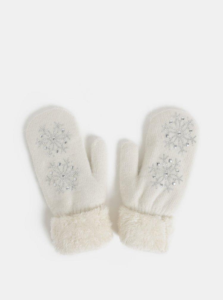 Bílé palčáky s příměsí angorské vlny v dárkovém balení Something Special