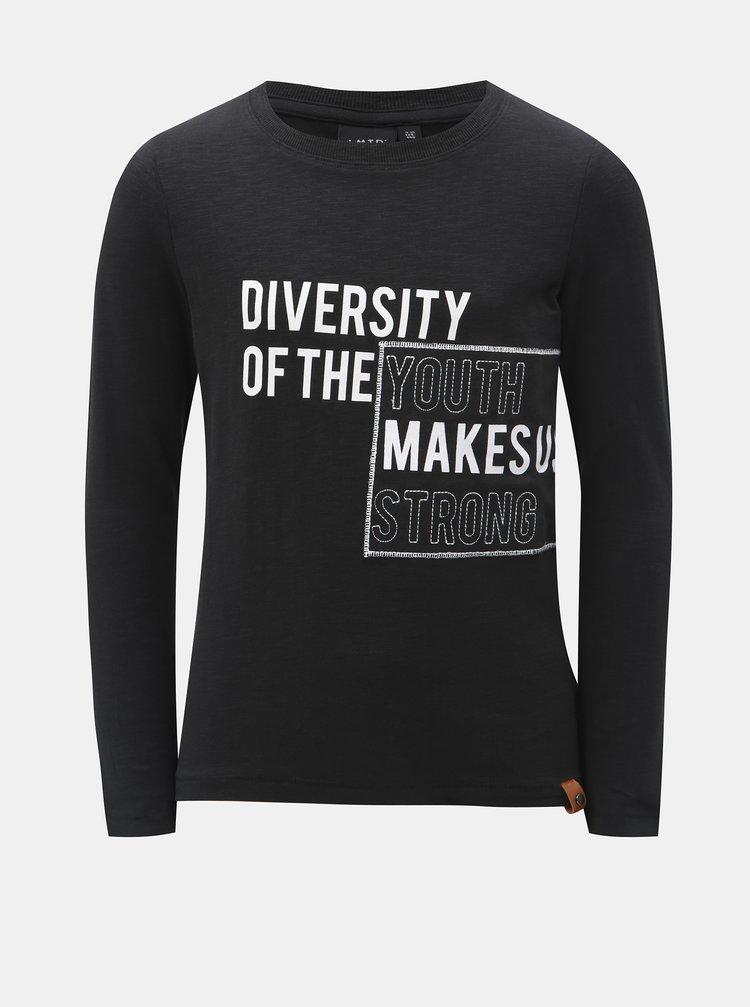 Tmavě šedé klučičí tričko s nápisem LIMITED by name it