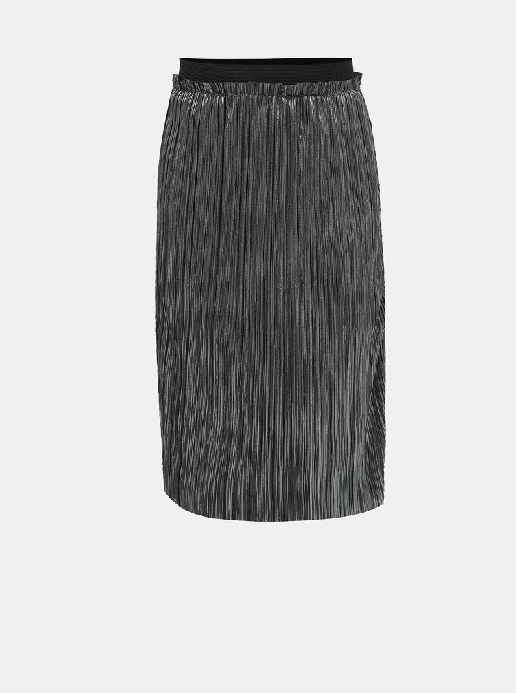 Holčičí lesklá plisovaná sukně ve stříbrné barvě LIMITED by name it