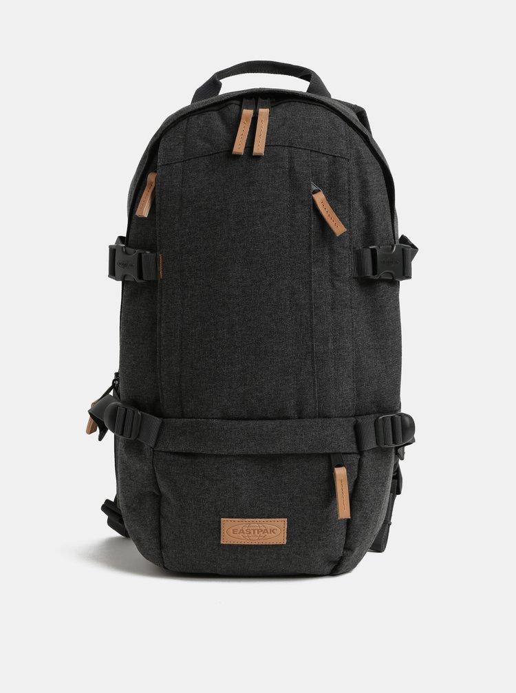 Sivý pánsky nepremokavý batoh s koženými detailmi Eastpak Series Floid 16 l