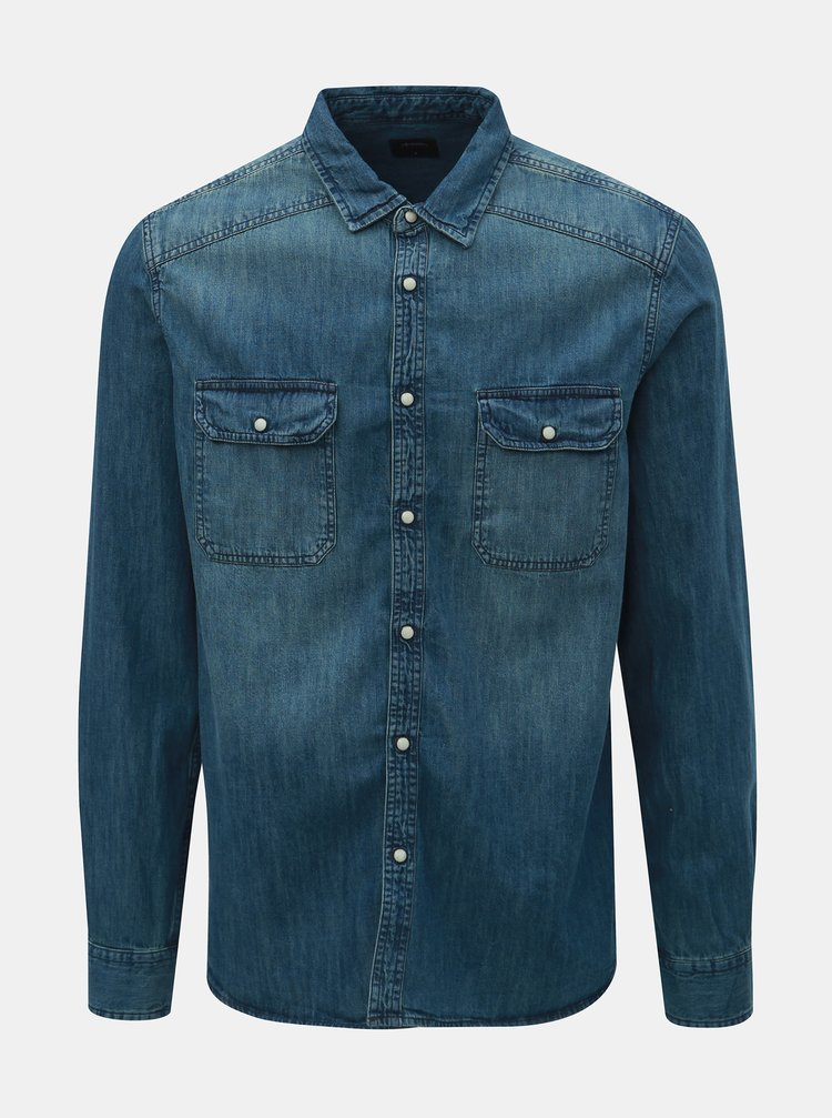 Modrá džínová košile Burton Menswear London Western