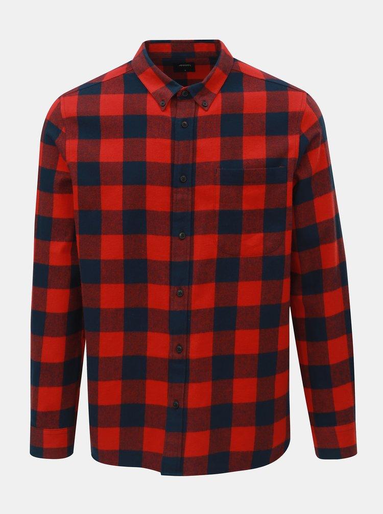 Modro-červená kostkovaná košile Burton Menswear London Buffalo