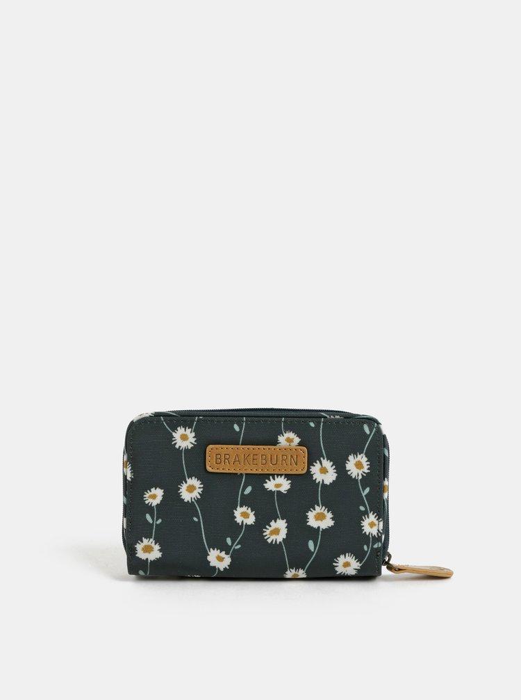 Portofel mic verde inchis floral Brakeburn