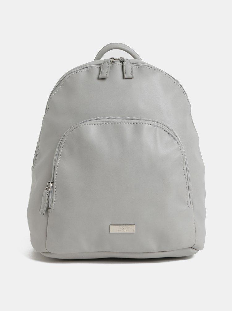 724c72b67c Svetlosivý koženkový batoh s predným vreckom ZOOT