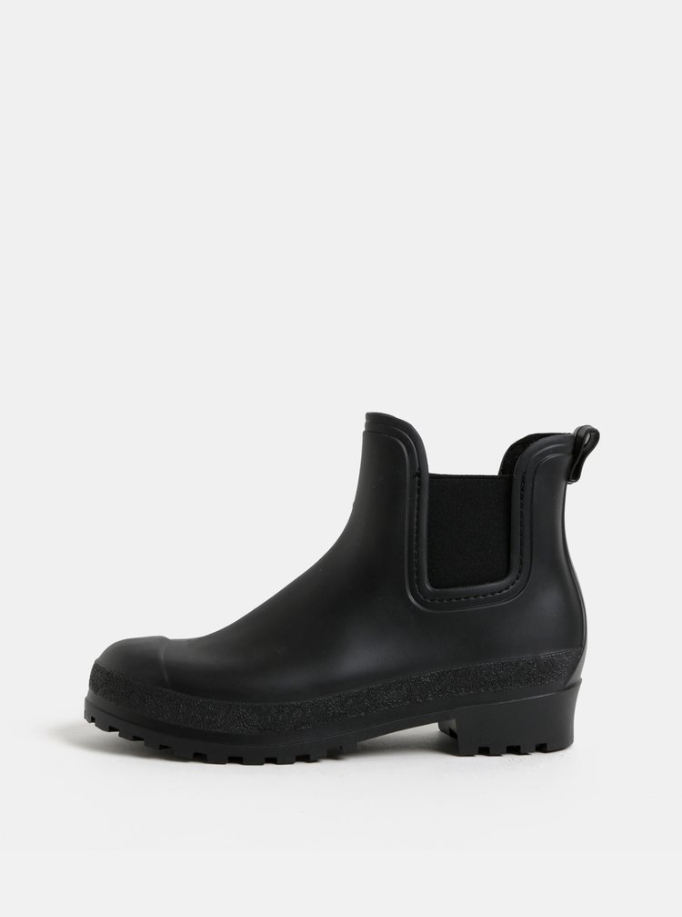 Čierne gumové chelsea topánky OJJU