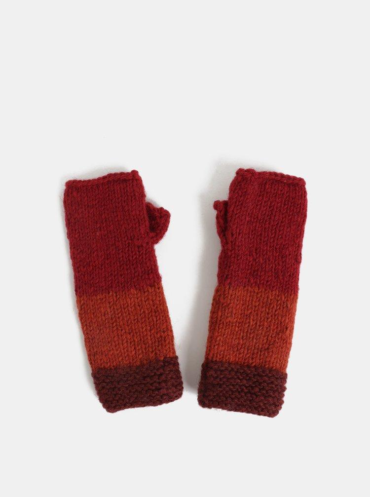 Červené vlněné návleky na ruce Tranquillo Tullu