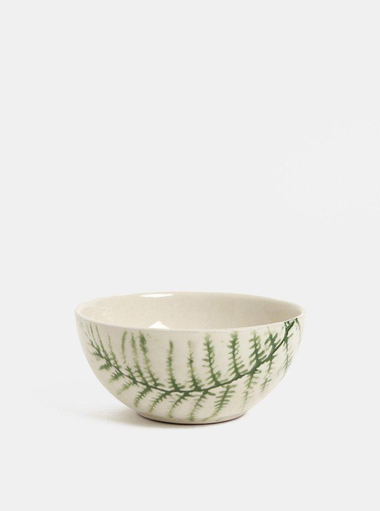 Zeleno–biela vzorovaná miska Kaemingk