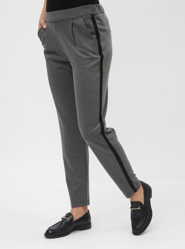 Pantaloni formali gri cu talie inalta VERO MODA Jana Kelly