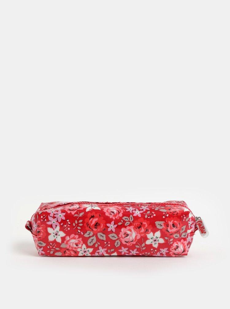 Červený holčičí květovaný penál Cath Kidston