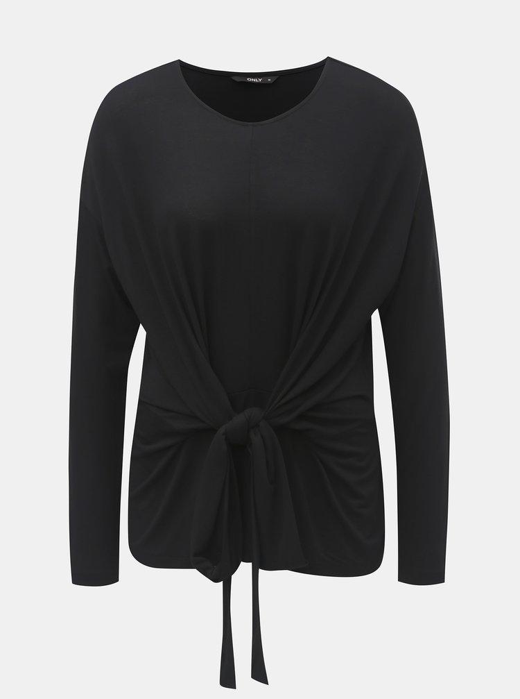 Černé tričko na zavazování ONLY Tine