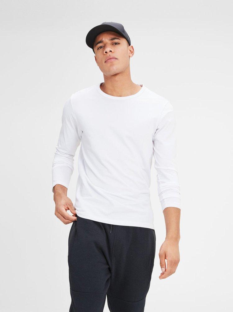 Biele basic tričko s dlhým rukávom Jack & Jones Basic