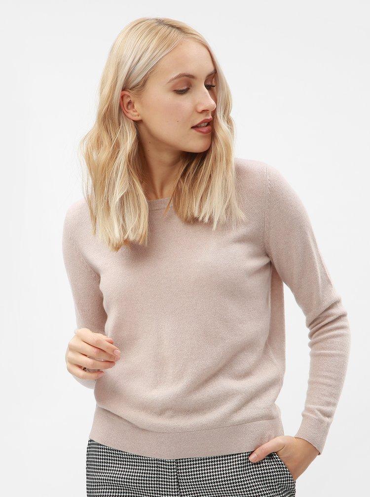 Růžový kašmírový svetr Selected Femme Faya