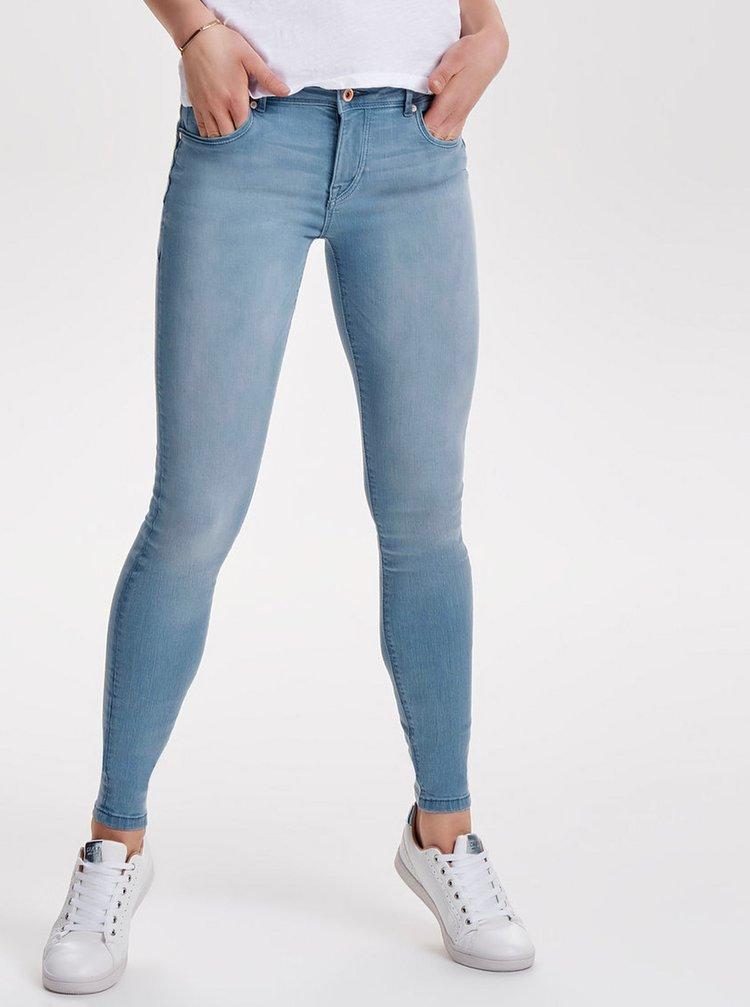 Světle modré push up skinny fit džíny ONLY Allan