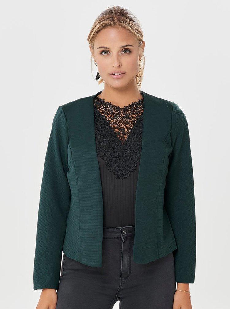 Tmavě zelené žebrované sako ONLY Anna