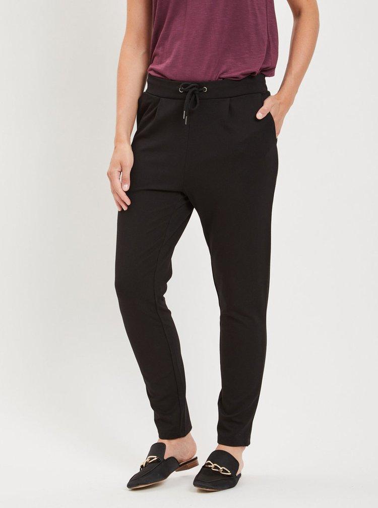 Čierne voľné nohavice s pružným pásom VILA Class