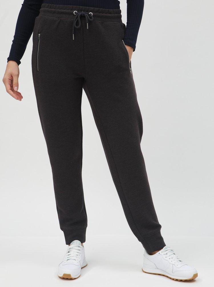 Pantaloni sport gri inchis cu buzunare Noisy May Nera