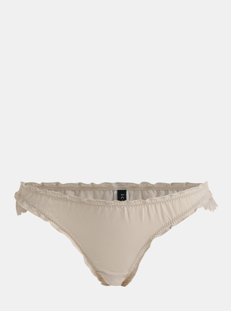Krémové kalhotky s krajkovými detaily ICÔNE
