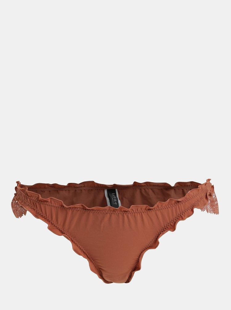 Cihlové kalhotky s krajkovými detaily ICÔNE