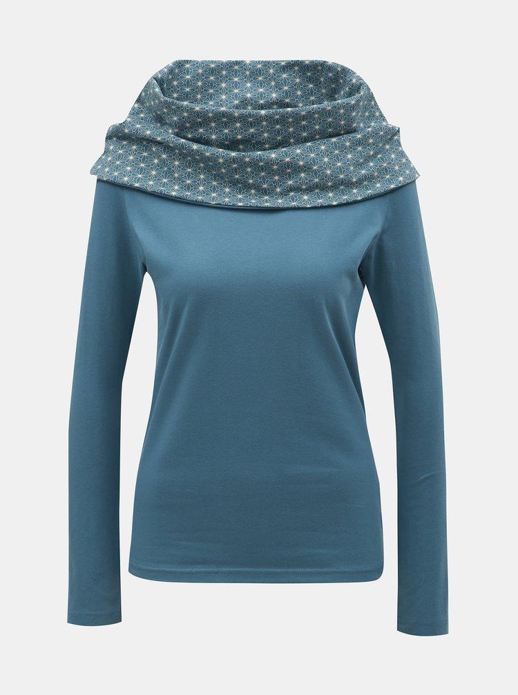 Světle modré tričko s dlouhým rukávem a límcem Tranquillo Caiva