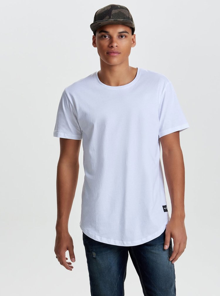 Tricou alb basic ONLY & SONS Matt