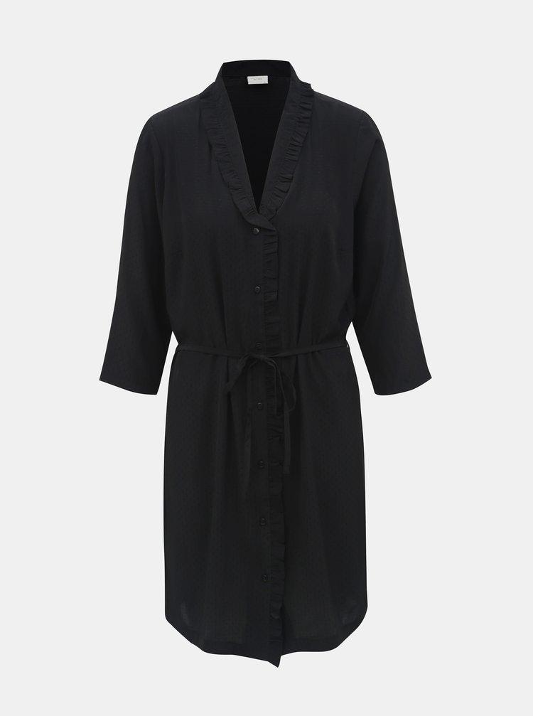 Černé košilové šaty Jacqueline de Yong Gilbert