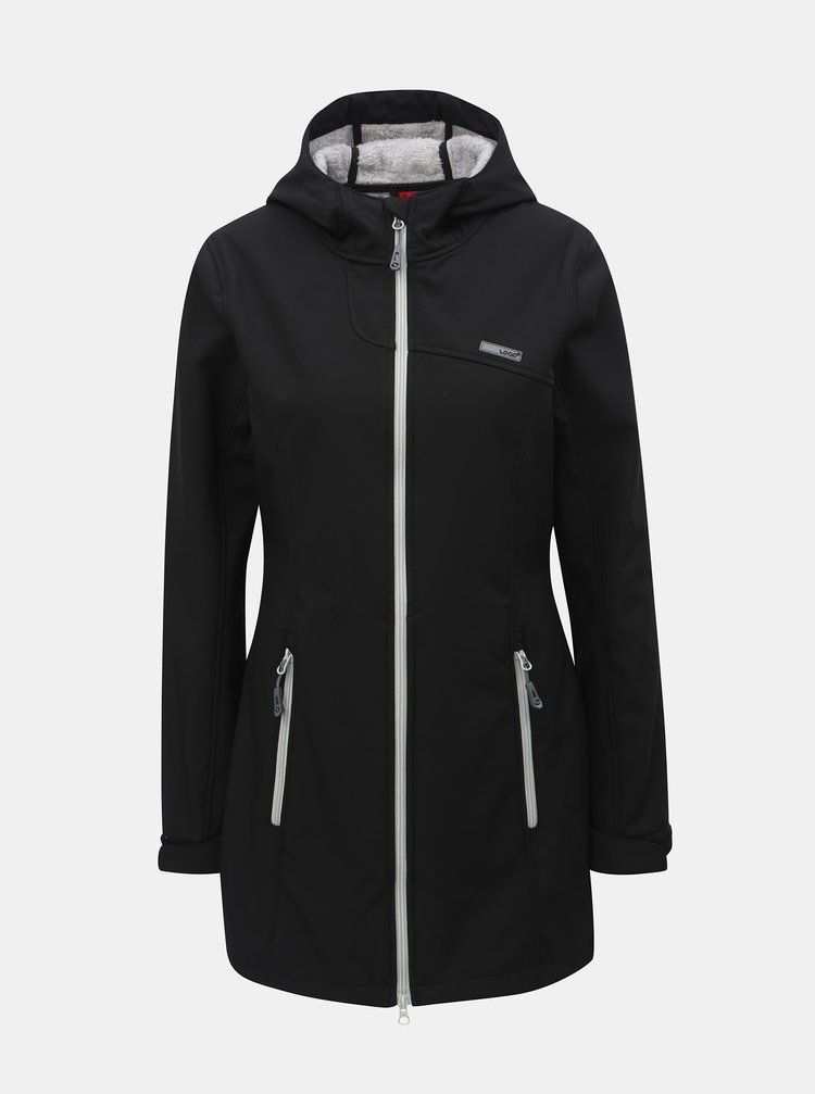 Černá dámská softshellová nepromokavá bunda LOAP Lavinia