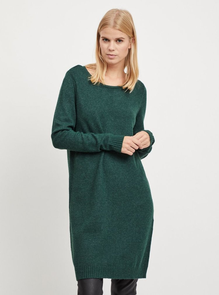 Rochie tricotata verde melanj VILA Viril
