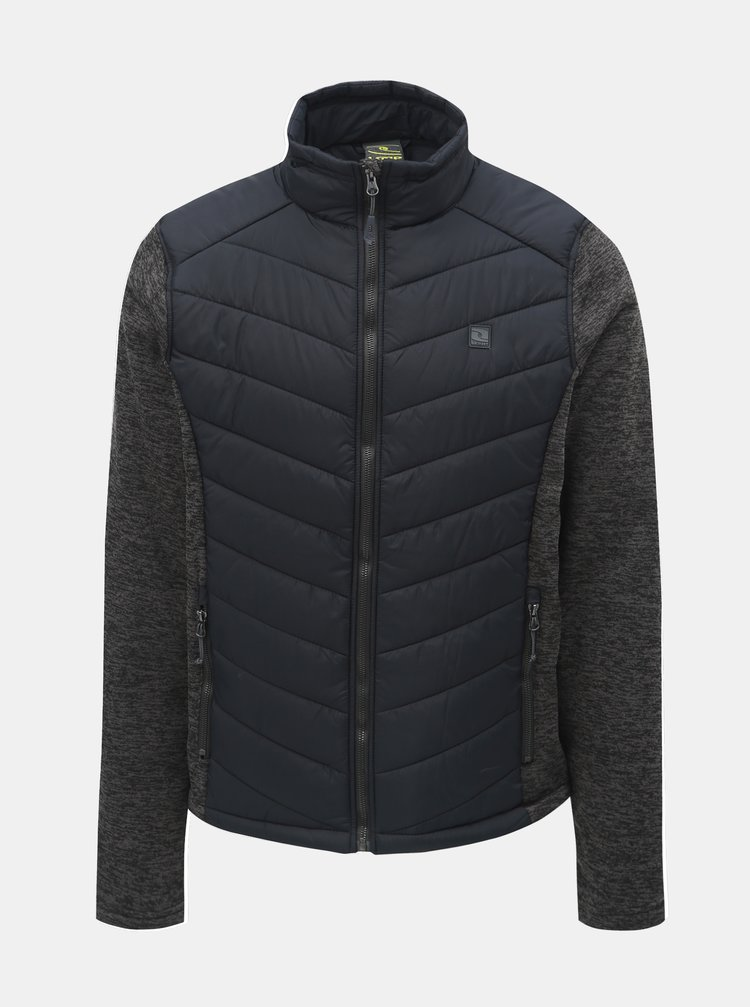 Jacheta lejera barbateasca gri-albastru melanj cu maneci din tricot LOAP Gabe