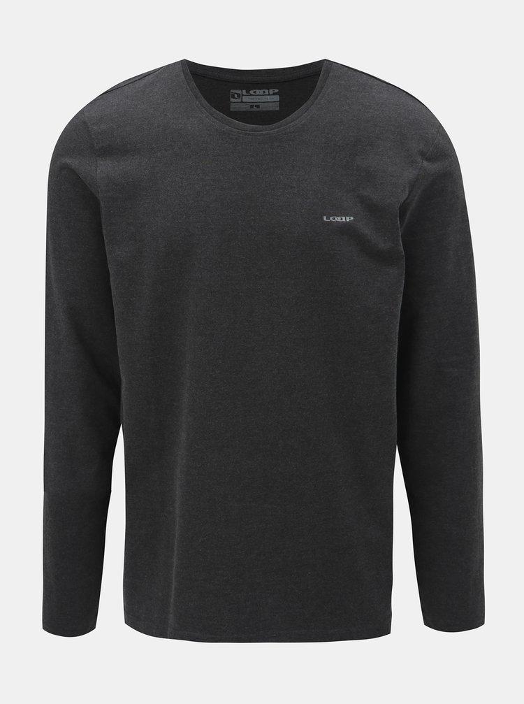 Tmavosivé pánske tričko s dlhým rukávom LOAP Babol